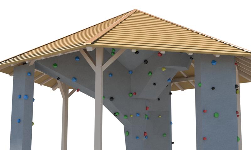 Boulderhütte mit Innenausbau