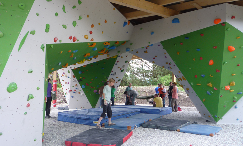 Bouldering wall