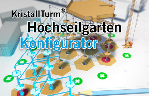 Anzeige für KristallTurm 3D Hochseilgarten Configurator