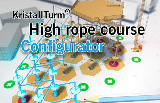 Advert for KristallTurm high rope course configurator